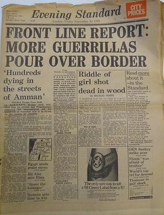 jimi hendrix newspaper 1970 / evening standard: september 18, 1970 / jimi hendrix dead