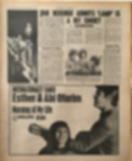 jimi hendrix collector newspapers/new musical express/9/9/1967/jimi hendrix admits 'lamp'is a bit smoky