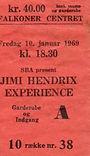 jimi hendrix memorabilia 1969/ticket copenhagen 69