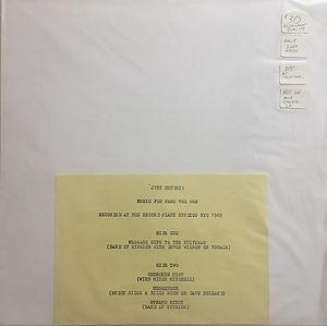 jimi hendrix vinyls bootlegs/gypsy on cloud nine / music for fan vol 1/ first edition