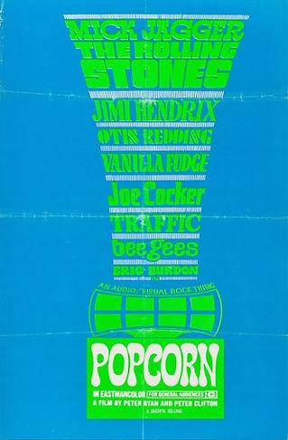 jimi hendrix memorabilia 1969/ poster: popcorn film 1969