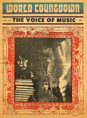 jimi hendrix newspaper 1968/world countdown december 1968 usa