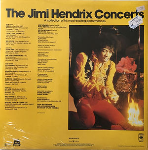 jimi hendrix vinyls album / the jimi hendrix concerts / cbs  england
