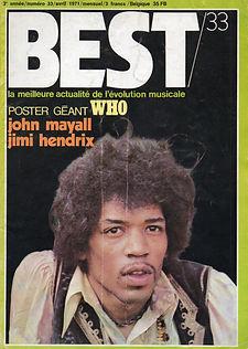 jimi hendrix magazines 1971 / best april 1971