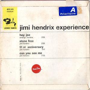 jimi hendrix rotily vinyl/hey joe EP