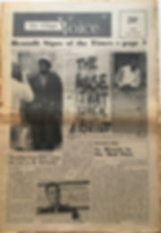 jimi hendrix newspaper/the village voice 21-27 june 1968