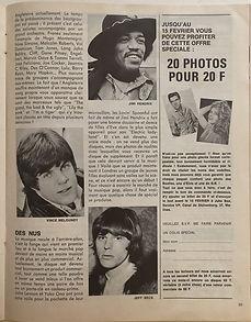 jimi hendrix magazine 1969/juke box belgium 1969 february