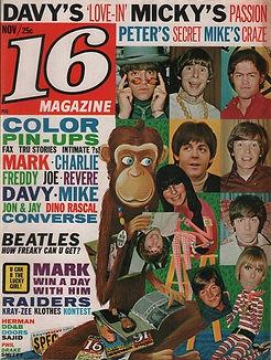 jimi hendrix collector magazine/16 magazine nov.1967