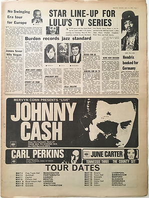 jimi hendrix newspaper/melody maker april 13 1968/hendrix booked for germany