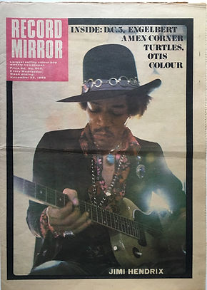 record mirror 23/11/68 jimi hendrix newspaper 1968