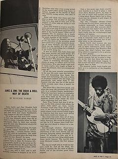 jimi hendrix magazines 1970 death/  jazz & pop : december 1970