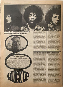 jimi hendrix newspaper/hit week N°12 jimi hendrix