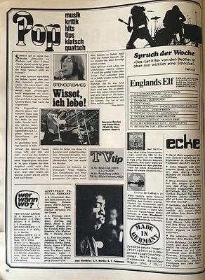 jimi hendrix magazines 1970 / hörzu aug. 31, 1970