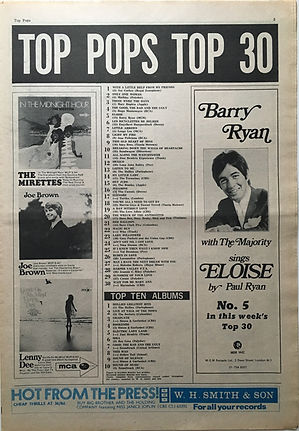jimi hendrix newspaper 1968/november 15 1968/top 30 top pops