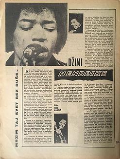 jimi hendrix collector magazine/dzuboks : april 1967 yougoslavia/hendrix article