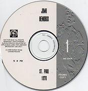 disc 1 / jimi hendrix bootlegs cds 1970 / jimi hendrix live in st paul 1970 2cd