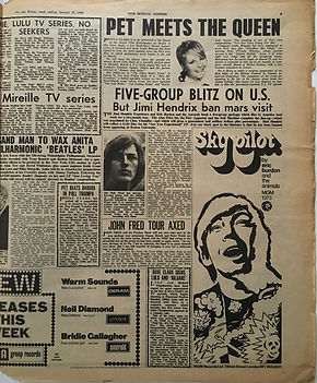 jimi hendrix collector newspaper/new musical express 27/1/68