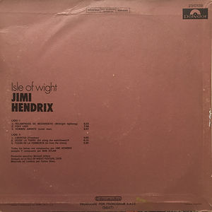 jimi hendrix vinyl album lps/isle of wight 1972 argentina