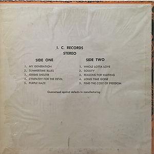jimi hendrix vinyls bootlegs 1970 /best of live in concert
