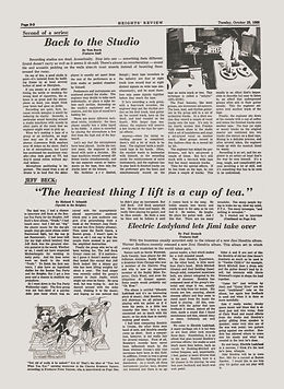 jimi hendrix newspaper 1968 / boston college heights october 29,1968