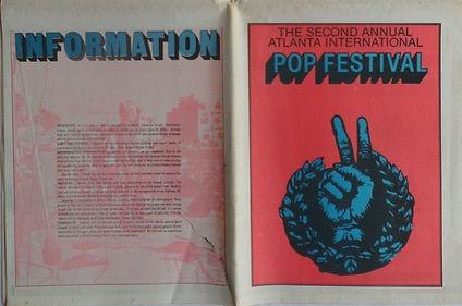 jimi hendrix memorabilia 1970/ atlanta pop festival 1970