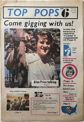 jimi hendrix collctor newspapers/top pops N°6 septembe1967 jimihendrix