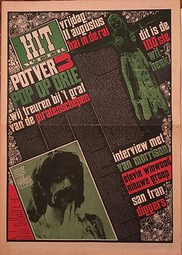 jimi hendrix newspapers collector /hit week august 11 1967