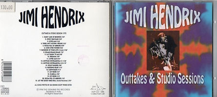 jimi hendrix bootlegs cds 1969/outtakes & studio sessions