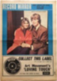 jimi hendrix newspaper 1968/record mirror october 19 1968
