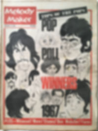 jimi hendrix collector newspapers/melody maker 23/9/67 pop poll winners 1967 jimi hendrix.......