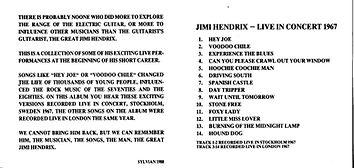 jim hendrix collector cd bootlegs/live in concert 1967