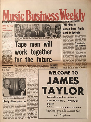 jimi hendrix newspapers 1970 / music business weekly october 24,  1970