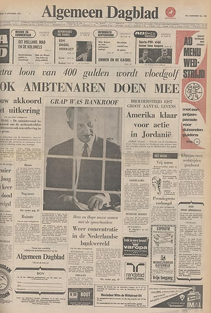 jimi hendrix newspapers 1970 / algemeen dagblad   September 19,  1970