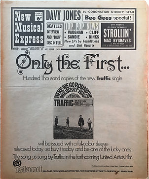 ufo could be jimi !/25/11/1967/jimi hendrix collector newspaper/new musical express 2/11/1967 review axis bold as love