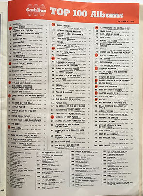 jimi hendrix magazine 1968/ cash box top 100 albums: are you experienced N°15 & axis bold as love N°69