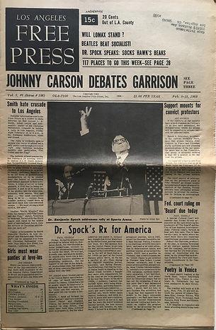 jimi hendrix newspaper/los angeles free press 9/2/68