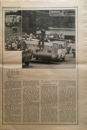 jimi hendrix newspaper 1969/rolling stone sept. 20 1969/ part3 woodstock