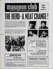 jimi hendrix memorabilia/program marqee club january 1967