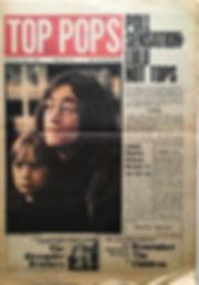 jimi hendrix newspaper 1968/top pops 15-20 december  1968