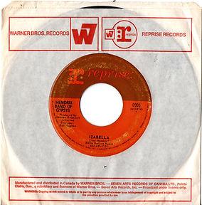 jimi hendrix collector singles vinyls/izabella reprise records hendrix band of gypsys/canada 1970