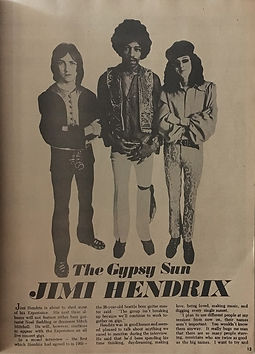jimi hendrix magazines 1970 / hit parajimi hendrix magazines 1970 / hit parader: january 1970 / the gypsy sunder: january 1970
