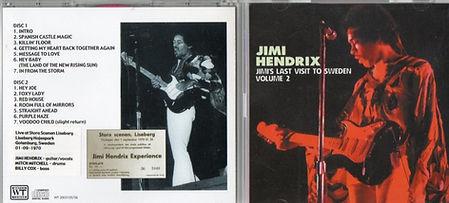 jimi hendrix bootlegs cd / jimi's last visit to sweden vol.2 2cd