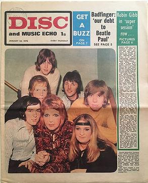 jimi hendrix newspapers 1970 /disc & music echo : jan.24, 1970
