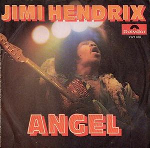 jimi hendrix singles vinyls/angel polydor 1971