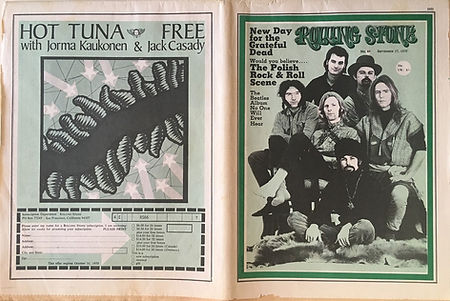 jimi hendrix newspapers 1970 / rolling stone september 17,1970
