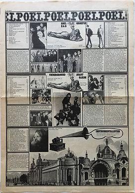 jimi hendrix newspaper/hit witheek  15/3/1968
