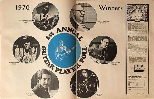 jimi hendrix magazines 1970 /guitar player feb, 1970
