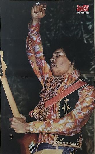 jimi hendrix magazine 1969/mundo joven  august 16 1969 / poster