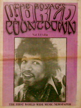 jimi hendrix newspaper/the royal's world countdown  vol 3 / 11