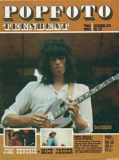 jimi hendrix magazines 1970 death/ popfoto november 70 1970
